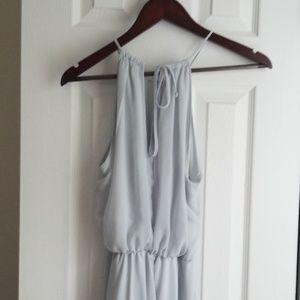 Nouvelle Amsale keyhole halter bridesmaid dress